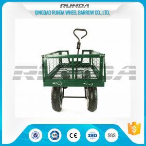Buy cheap Steel Mesh 4 Wheel Garden Cart Load Capacity 150-300kg Powder Coated Finish product
