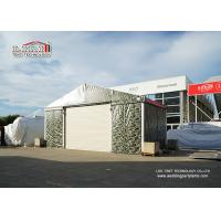 Buy cheap 10m Witdh Aluminum Steel Airplane Hangars Camouflage Color PVC Fabric Steel Roll Up Door product