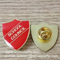 Buy cheap Die struck enamel lapel pin with color filled and epoxy coated product