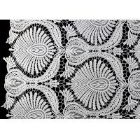 China Heavy Embroidey Polyester Lace Fabric With French Venice Guipure DTM Azo Free on sale