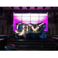 Buy cheap LED DJ booths/ LED Ox Horn-P5-3.38  ARISELED.COM Creative LED Displays Led Stage Screen-DJ product