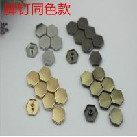 Buy cheap Super cheaper factory price bag fitting small flat six-sided nickel color metal buckles and rivets product