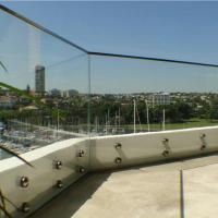 Buy cheap Outdoor Frameless Balcony Glass Balustrade with Stainless Steel Glass Standoff product