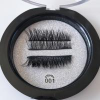 Buy cheap Reusable Magnetic Fake Lashes Magnetic False Eyelashes No Glue Required 4 Pieces product