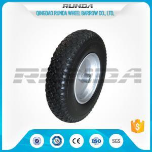 Buy cheap Durable Heavy Duty Rubber Wheels 4.00-8 , Industrial Trolley Wheels Diamond Patter product