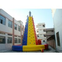China Colourful  Inflatable Interactive Indoor Inflatable Climbing Wall Hire on sale