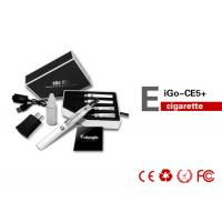 White 1100mAh EGO CE5 E Cigarette Clearomizer With EGO T Battery , Non Toxic