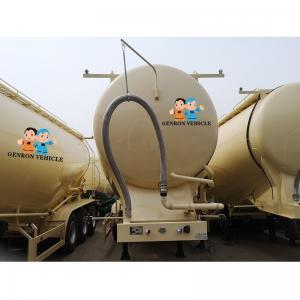 China Tri Axle ABS Locking Mild Steel 40t Cement Bulker Trailer on sale