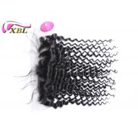 "China Natural Hairline Virgin Malaysian Deep Wave 13x4.5 Ear To Ear Lace Frontal 16"" wholesale"