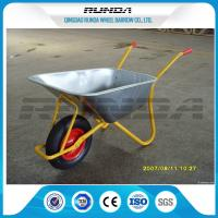 Buy cheap Metal Bracket Big Wheel Wheelbarrow 200kg Load 32x1.2mm Frame Thickness For Yard product