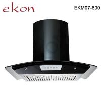 Buy cheap EKM07 Whole Black Color Curved Glass Kitchen Chimney in 3 speed product