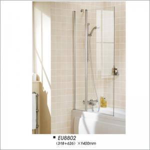 Buy cheap Bathroom Pivot Over Bath Shower Screen / Glass Shower Doors CE CCC Certification product
