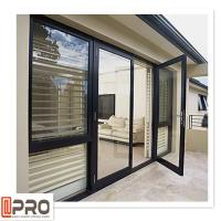 Buy cheap Multi Color Hinged Security Doors , Sound Insulation Aluminium Glass Front Door from wholesalers