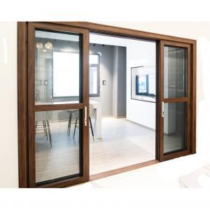 Buy cheap Hall 6063 Aluminum Sliding Doors With Mesh Wood Grain Frame product