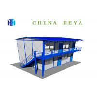 Buy cheap Two Story Anti Seismic Prefab Camp Houses For  Living A Level Fire Protection product