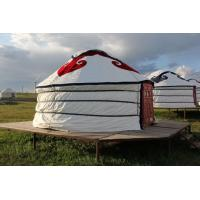 Buy cheap Floral Comfortable Yurt Tent House With National Features External Decorated Cloth product