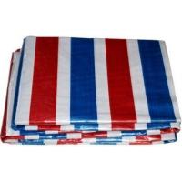 China PE Coated Stripe PE Tarpaulin Sheet Dust - Proof Woven Technics With Holes on sale
