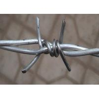 Buy cheap Double Twisted Barbed Iron Wire Wrapped For Security Fence , 1.6mm- 3.0mm Dia product