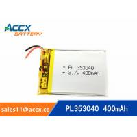 Buy cheap 353040pl rechargeable 353040 3.7v 400mah lithium polymer battery for MP3 player, MP4 player product
