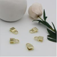 Buy cheap OEM design bag making accessories fashion light gold decorative metal lock parts product