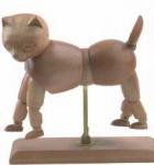 Buy cheap Vivid Craft Artist Wooden Manikin Dog / Cat Mannequin Good Design product