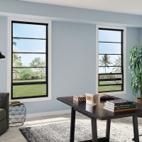 Buy cheap Vertical Up And Down Sliding Windows French Aluminum White Frame product