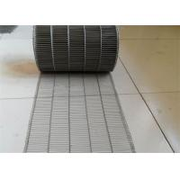 Buy cheap Customized Flat Wire Mesh Conveyor Belt Running Smoothly And Free Samples product
