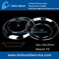 Buy cheap 100ml clear PP thin wall round plastic disposable dessert plates/dishes injection mould product