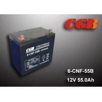 Buy cheap 55AH 12v Sealed Lead Acid Batteries , Long Life Solar Wind Energy Storage Battery product