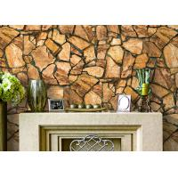 Buy cheap 3D Effect Stone Pattern Durable Popular Wallpaper For House Wall With Pvc Material product