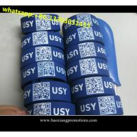 Buy cheap high quality low cost silicone wristbands ,custom debossed QR code ID silicone wristband product