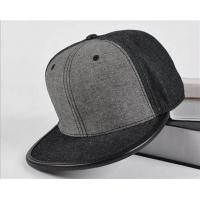 Buy cheap Fitted Baseball Style Leather Brim wool Quality Grey Blank Snapback cap product