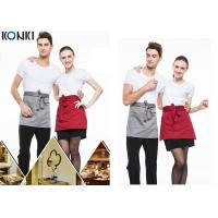 Buy cheap Woven Cotton Cute Cooking Aprons , Short Red Apron For Men And Women product