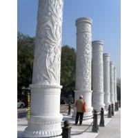Buy cheap large Red stone Marble pillar for the square product
