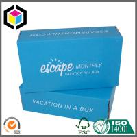 Buy cheap Blue Color Flexo Print Corrugated Box; Custom Color Cardboard Packaging Box product
