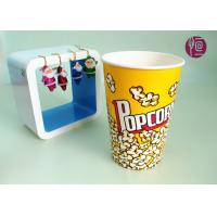 Buy cheap 46oz Top120mm Disposable Paper Popcorn Buckets 1275ml Volume BRC FDA product
