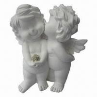 China Polyresin Craft, Double Angel Design, Meets EN71/CPSIA Standard on sale