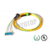 Buy cheap LC UPC MPO Trunk Cable Multimode , 8 - Core MPO Fiber Optic Connector product