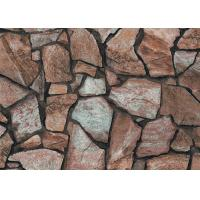 Quality 3D Effect Stone Pattern Durable Popular Wallpaper For House Wall With Pvc for sale