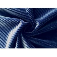 China 250GSM Stretchy 92% Polyester Corduroy Fabric for Accessories Navy Blue on sale