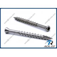 China 304/305/316 Stainless Steel Square Drive Trim Head Deck Screw Type 17 on sale