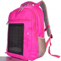 Buy cheap Pink Womens Hiking Solar Charging Backpack With Charger Built In product