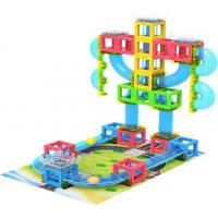 Buy cheap 3D Magnetic Building Blocks Set with Runing ball from wholesalers