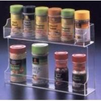 Quality Fashion Shape Acrylic Spice Rack With customer's Logo for sale