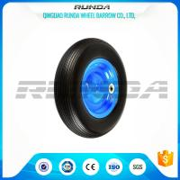 Buy cheap 4inches Solid PU Foam Wheel, Line Pattern Polyurethane Caster Wheels 4.00-8 product