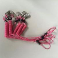 Buy cheap Custom special OEM rose red spring coiled leash w/ metal alligator clip and loop end product