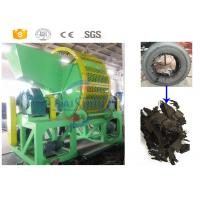 Buy cheap Twin Shaft Tire Shredding Machine / Automated Waste Tire Recycling Machine product