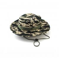 Buy cheap 100% Cotton Fisherman Bucket Hat With Strings Plain Pattern Quick Dry product