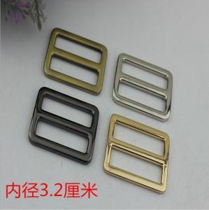 Buy cheap High end zinc alloy 32 mm light gold metal adjustable slide buckles for handbags product