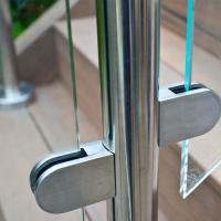 Buy cheap Frameless Glass Guard Deck Railing with Solid Clamps Made In China product
